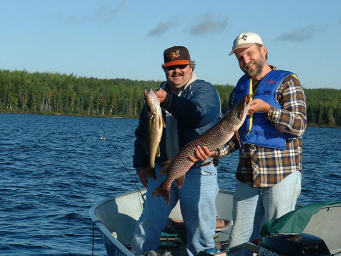 Outpost fishing in Northern Ontario, Canada